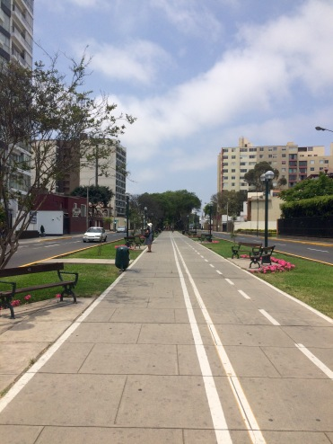 Walking around Lima.