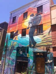 Lots of street art on the walls of the city.